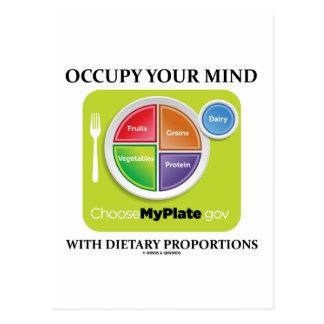 Ocupe su mente con las proporciones dietéticas MyP Postales