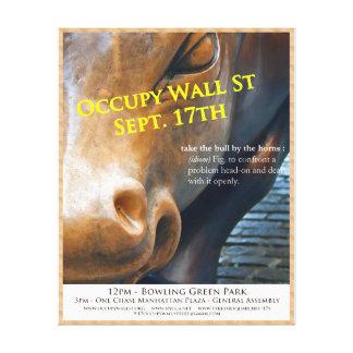 Ocupe temprano el aviador 9/17/11 de Wall Street e Impresión En Lona