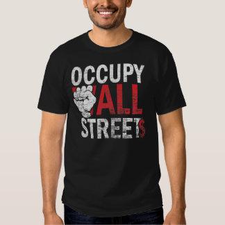 Ocupe toda la camiseta de las calles remeras