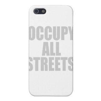 OCUPE TODAS LAS CALLES iPhone 5 CARCASAS