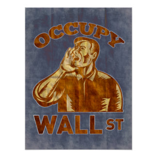 Ocupe Wall Street América Posters