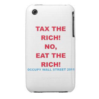 Ocupe Wall Street, coma la curva rica de iPhone 3 Case-Mate Carcasa