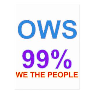 Ocupe Wall Street el 99% nosotros la gente Postal