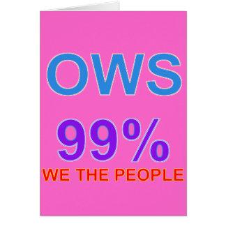 Ocupe Wall Street el 99% nosotros la gente Tarjeta De Felicitación