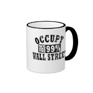 Ocupe Wall Street el 99% Tazas De Café