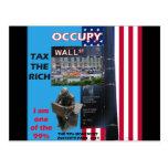 Ocupe Wall Street - el parque 2011 de Zuccotti Tarjeta Postal