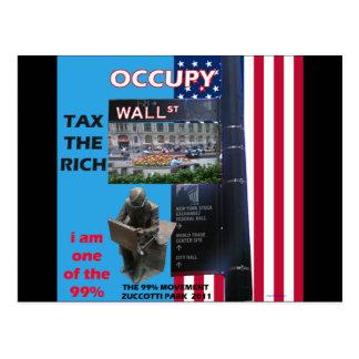 Ocupe Wall Street - el parque 2011 de Zuccotti Tarjetas Postales