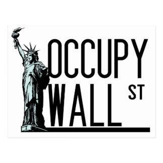 Ocupe Wall Street - estatua de la libertad Postales