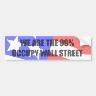 ocupe Wall Street Etiqueta De Parachoque