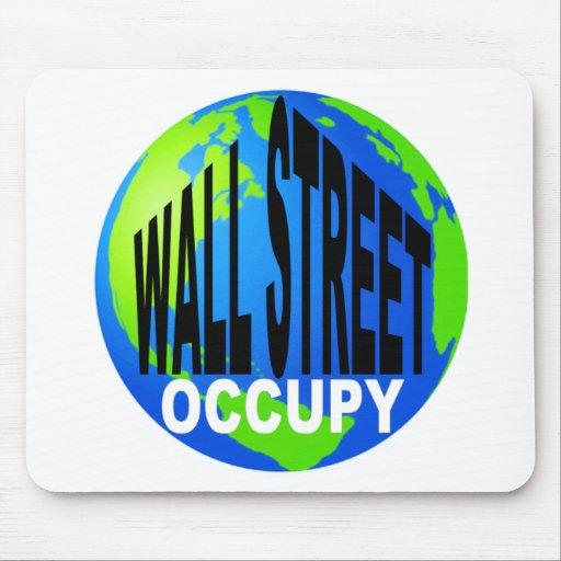 Ocupe Wall Street global Alfombrillas De Ratón