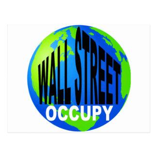 Ocupe Wall Street global Tarjetas Postales
