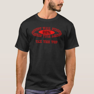 """Ocupe Wall Street - """"grave"""" el camisetas oscuro"""