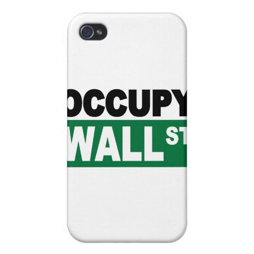 Ocupe Wall Street iPhone 4 Fundas