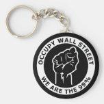 Ocupe Wall Street, nosotros son el 99% Llaveros Personalizados