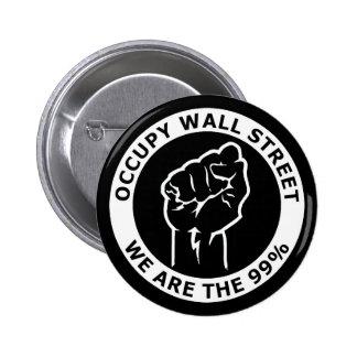 Ocupe Wall Street, nosotros son el 99% Pin Redondo De 2 Pulgadas