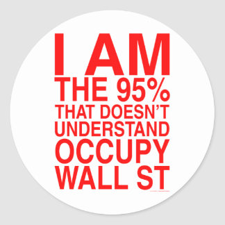 Ocupe Wall Street Etiqueta Redonda