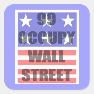 ocupe Wall Street Pegatina Cuadrada