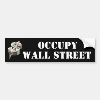 Ocupe Wall Street Pegatina Para Auto