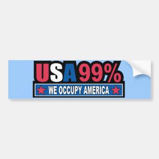 Ocupe Wall Street… que somos el por ciento del 99 Etiqueta De Parachoque