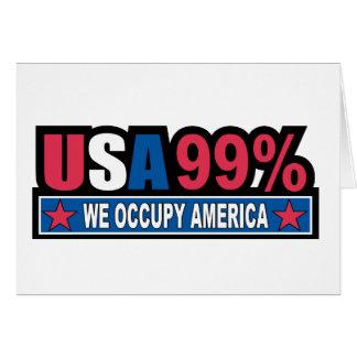 Ocupe Wall Street… que somos el por ciento del 99% Tarjeta De Felicitación