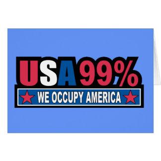 Ocupe Wall Street… que somos el por ciento del 99% Tarjeta Pequeña