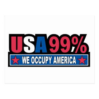 Ocupe Wall Street… que somos el por ciento del 99% Tarjetas Postales