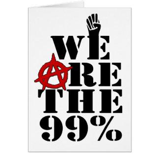 Ocupe Wall Street que somos los 99% Tarjeta De Felicitación