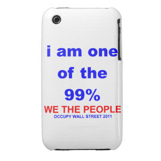 Ocupe Wall Street que soy uno del 99% Blackberry iPhone 3 Case-Mate Funda