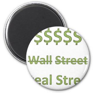 Ocupe Wall Street retro Imán Redondo 5 Cm