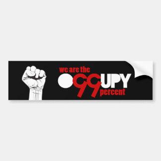 Ocupe Wall Street - somos el 99 por ciento Etiqueta De Parachoque