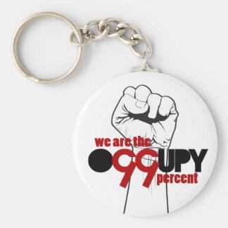 Ocupe Wall Street - somos el 99 por ciento Llaveros Personalizados
