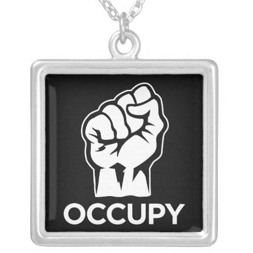 Ocupe Wall Street - somos los 99% Colgante Cuadrado