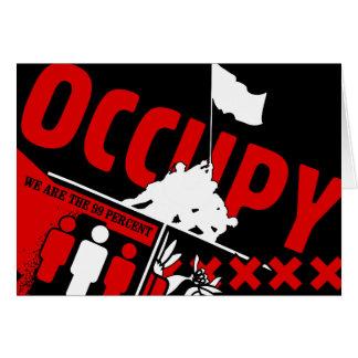 Ocupe Wall Street: Somos los 99% Tarjeta De Felicitación
