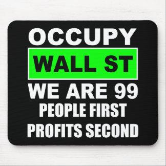 Ocupe Wall Street Alfombrillas De Ratones