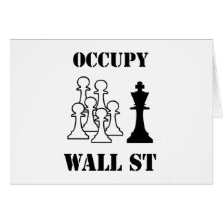 Ocupe Wall Street Tarjeta De Felicitación
