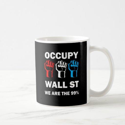 ocupe Wall Street Taza Básica Blanca