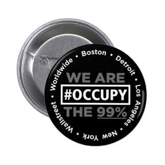 Ocupe Wall Street y el botón mundial Pin Redondo De 2 Pulgadas