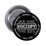 Ocupe Wall Street y el botón mundial Pins
