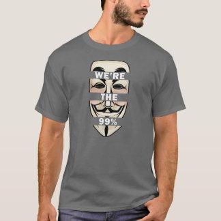 OCUPE WALLSTREET: ¡Anónimo somos los 99%! Playera
