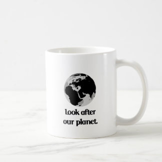 Ocúpese nuestro planeta taza de café