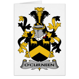 O'Curneen Family Crest Card