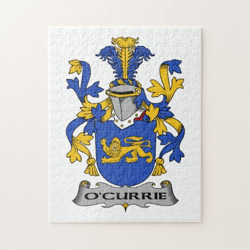O'Currie Family Crest Puzzles