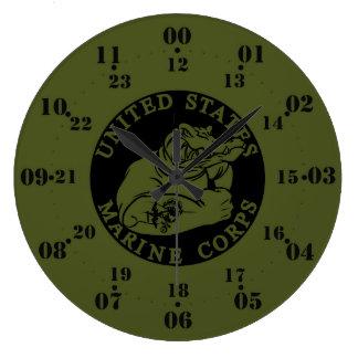 OD BLK Gator 12-24 Clock.