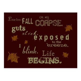 Oda a la postal muerta del otoño
