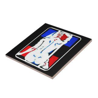 """""""Oda a Mondrian"""" en una baldosa cerámica Azulejo Cuadrado Pequeño"""