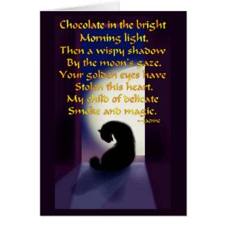Oda a un gato negro tarjeta de felicitación