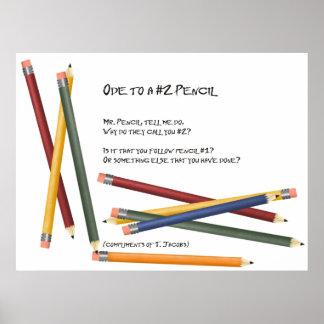 Oda a un ningún lápiz 2 póster