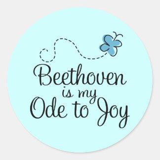 Oda al pegatina de Beethoven de la alegría