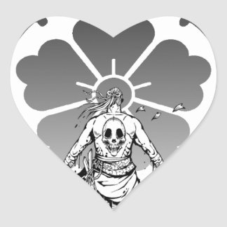 Oda Japanese quince and demon Heart Sticker