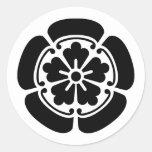 Oda, Japón Pegatina Redonda